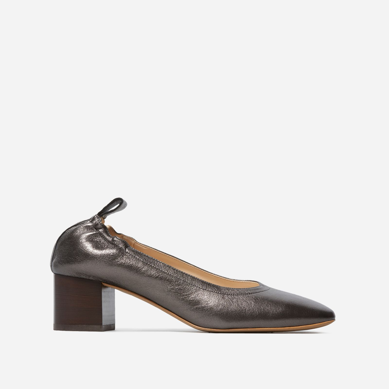 women's pump heel by everlane in iron stacked, size 11