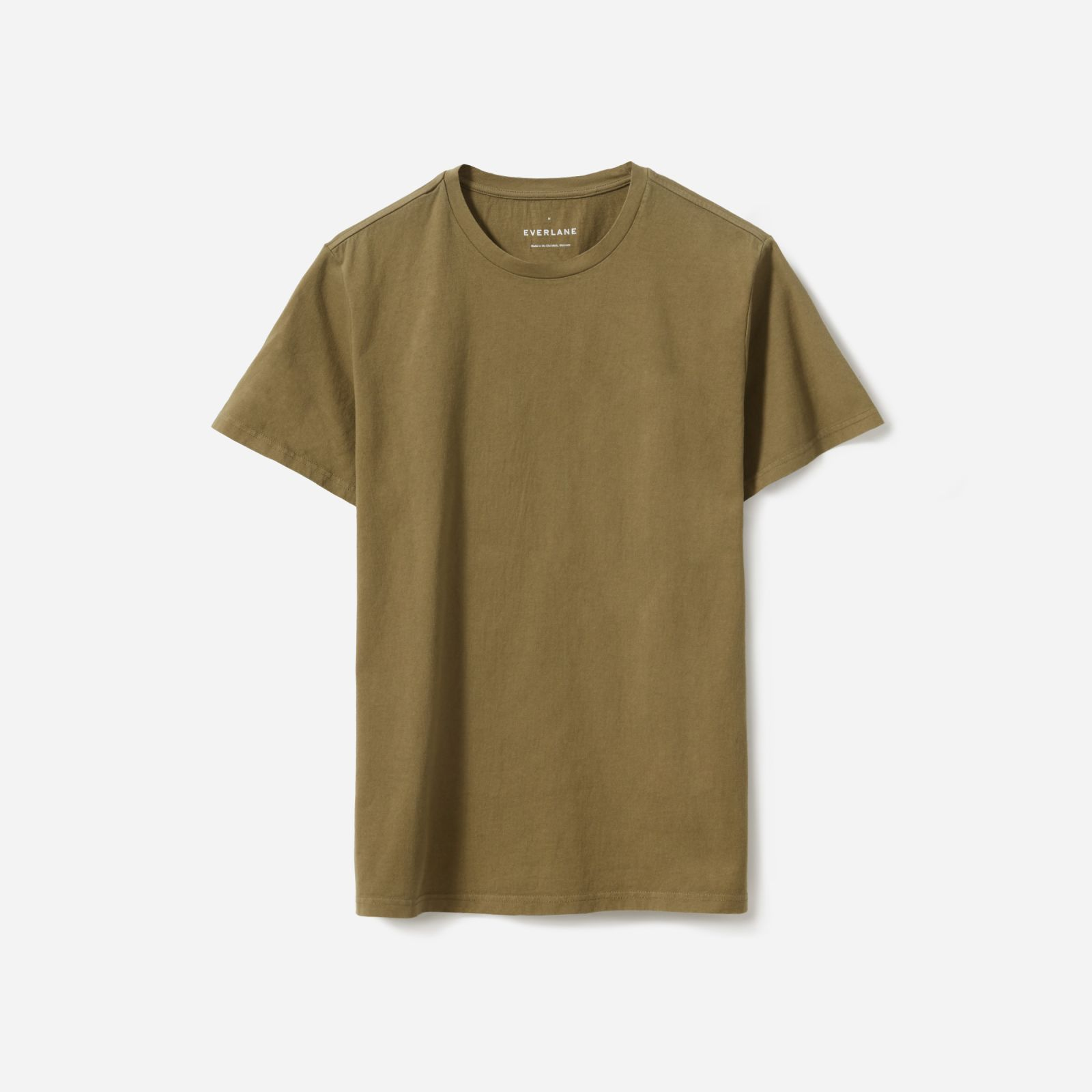 men's heavyweight crew t-shirt by everlane in washed moss green, size xxl