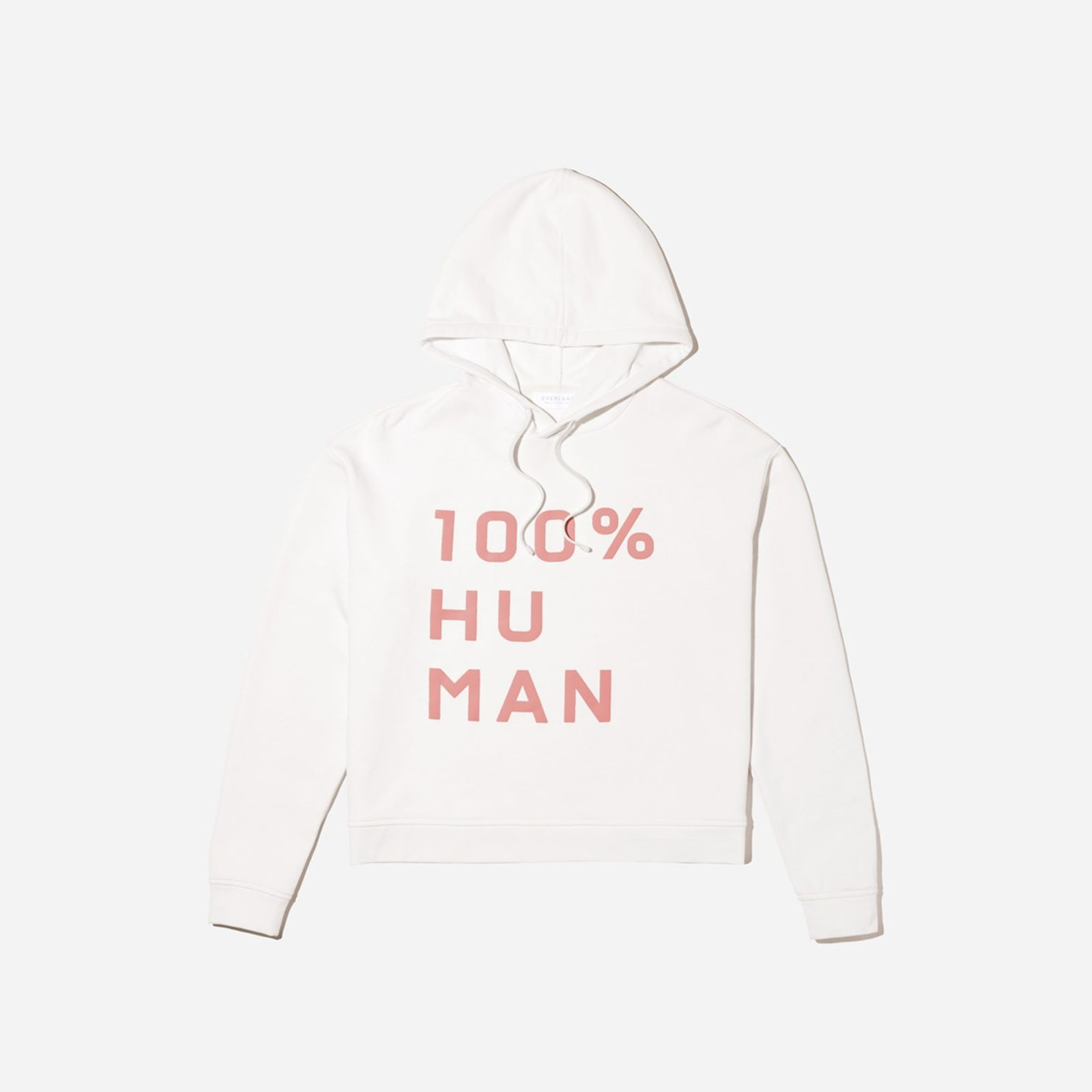 Women's 100% Human French Terry Hoodie in Large Print