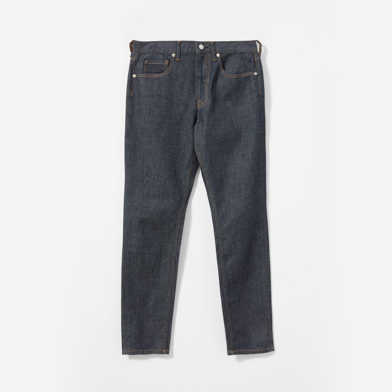 men's athletic fit jean by everlane in dark indigo, size 38x34