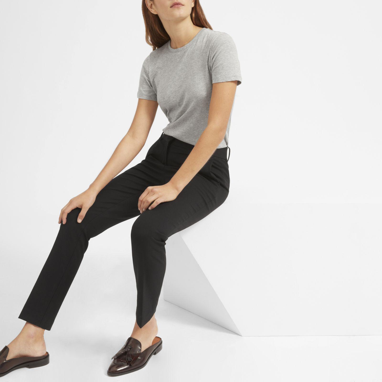 women's cotton crew t-shirt by everlane in heather grey, size xl