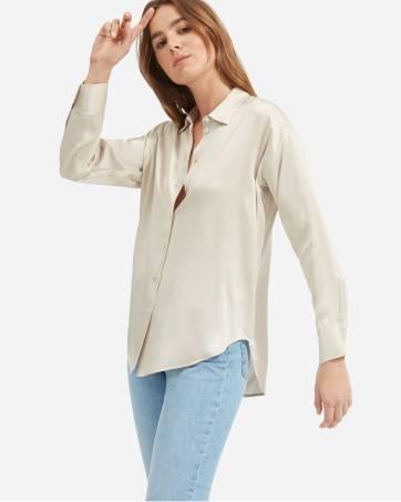 Women S Shirts Tops Silk Blouses Everlane