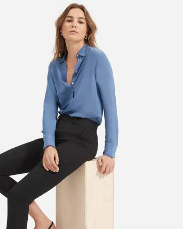 Women S Shirts Tops Silk Blouses Everlane
