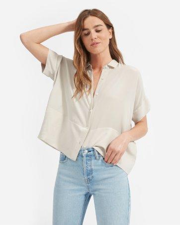 bce83a58dfa ... The Clean Silk Short-Sleeve Square Shirt - Everlane ...