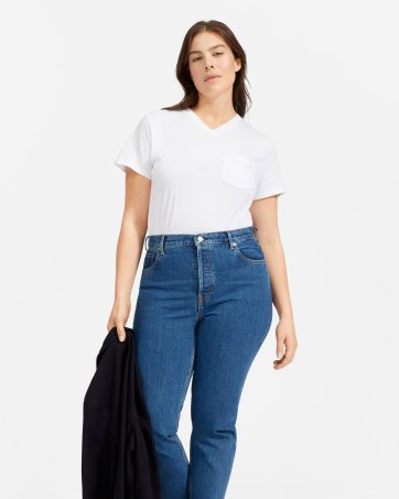 8cd0ea5c7be815 ... The Cotton Box-Cut V-Neck Tee - Everlane ...