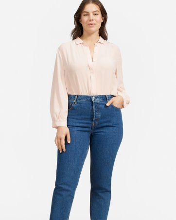 ba0419763387a ... The Shirred Silk Shirt - Everlane ...