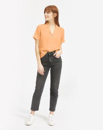 671322bd ... The Clean Silk Short-Sleeve Notch Shirt - Everlane ...