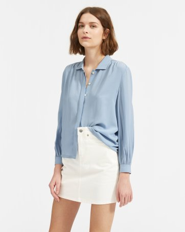 6ee99a81a02ed The Shirred Silk Shirt