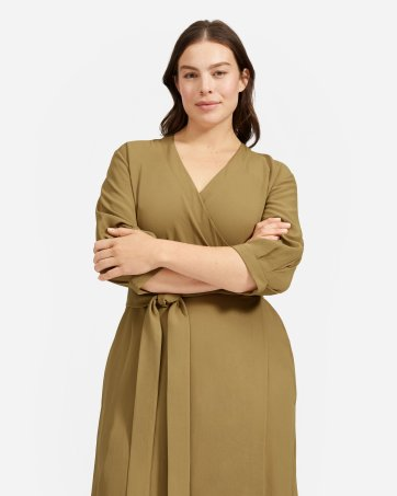 8a706d676e5 The Japanese GoWeave Long-Sleeve Mini Wrap Dress