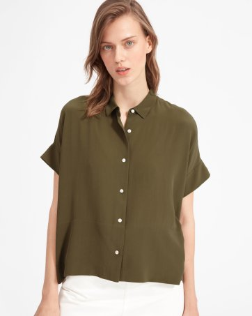 60421ff6913009 ... The Clean Silk Short-Sleeve Square Shirt - Everlane