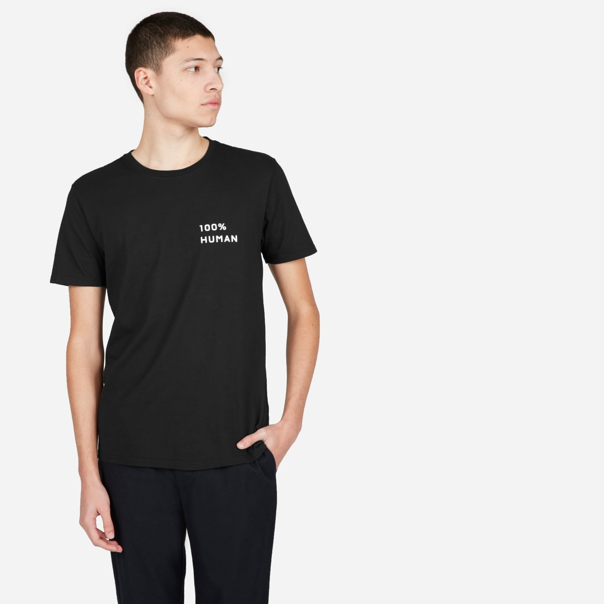The 100% Human Unisex Crew In Small Print by Everlane