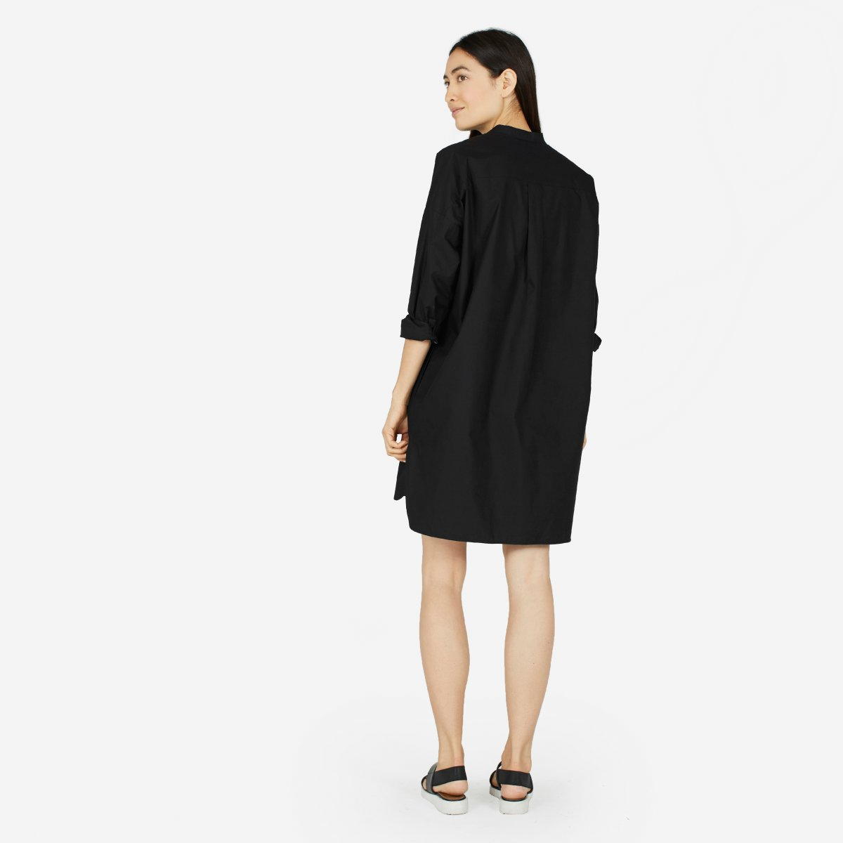 Womens Oversized Cotton Poplin Shirt Dress Everlane