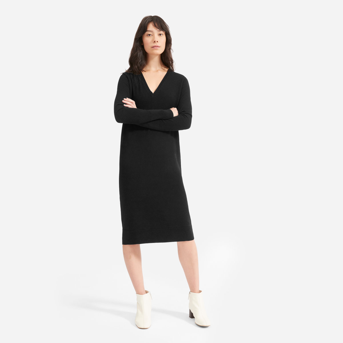 ee5c2aeab4e0e The Cashmere V-Neck Midi Dress