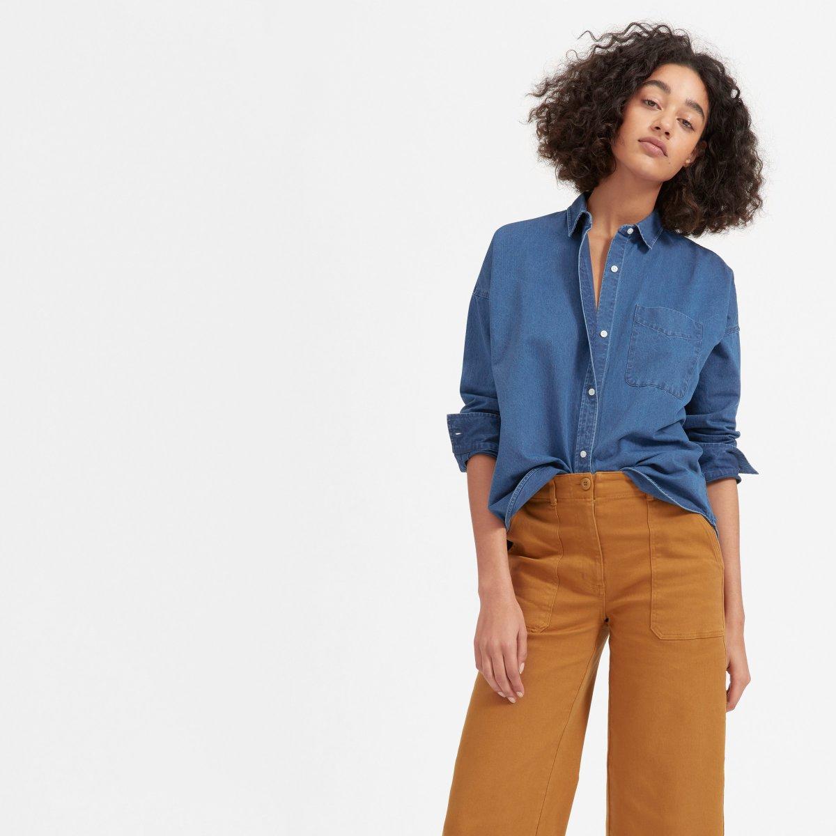 Womens Square Jean Shirt Everlane