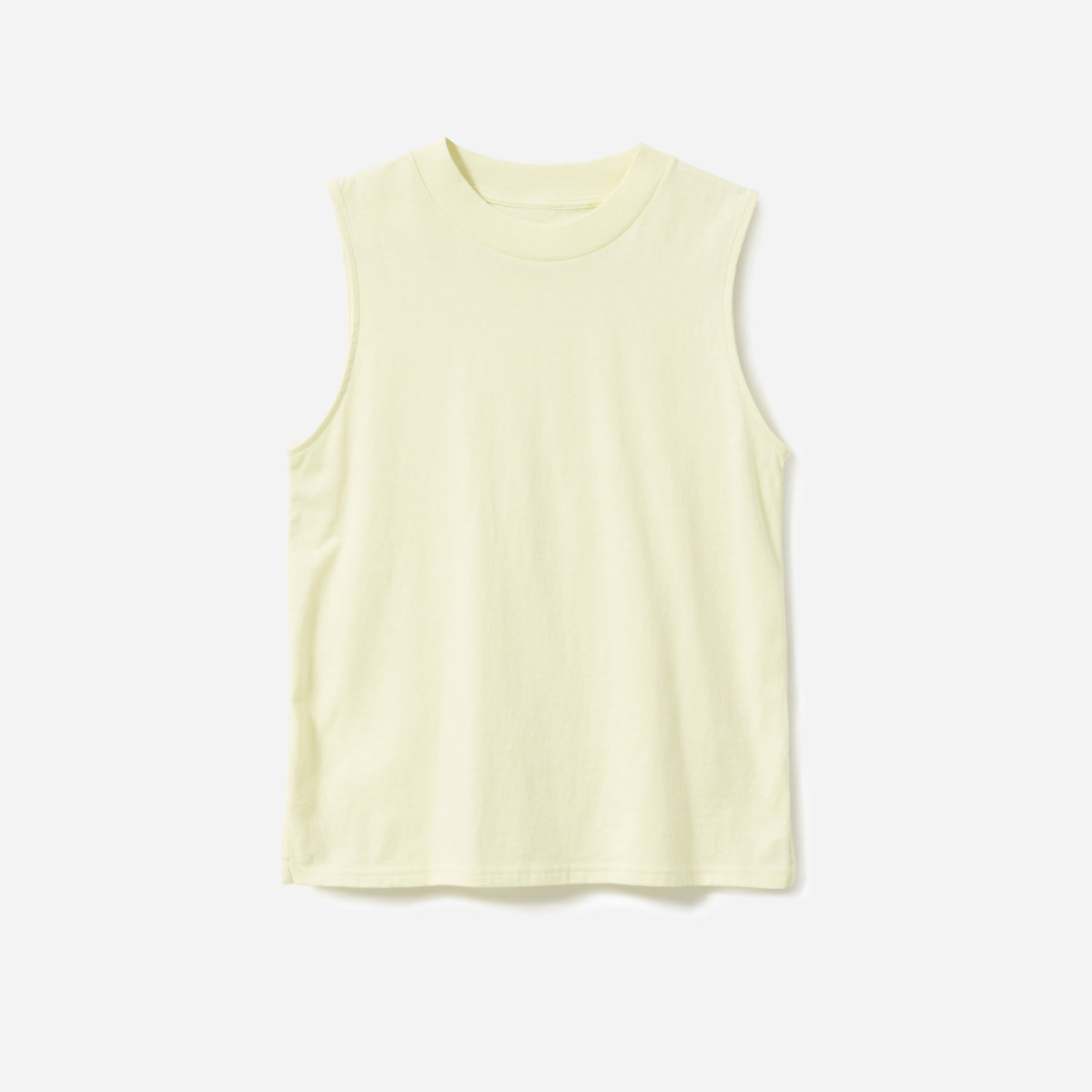 49ed4b8a34d9af Your browser does not support HTML5 video. Here is the link to the video The  Cotton Mockneck Muscle Tank - Pale Yellow