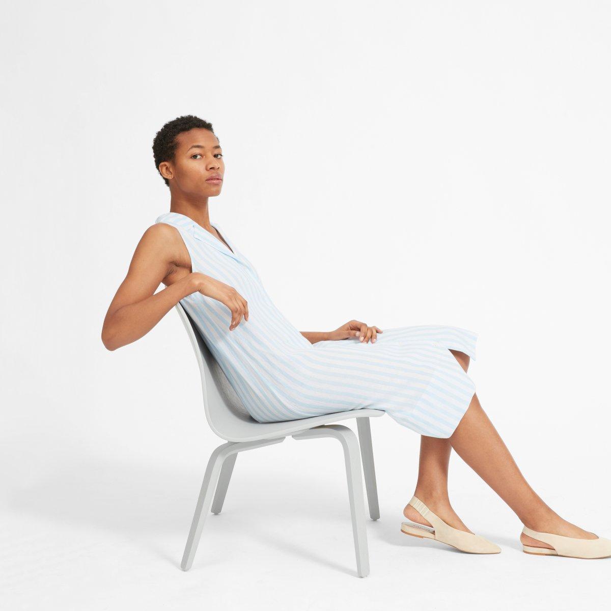 The Linen Sleeveless Shirtdress by Everlane