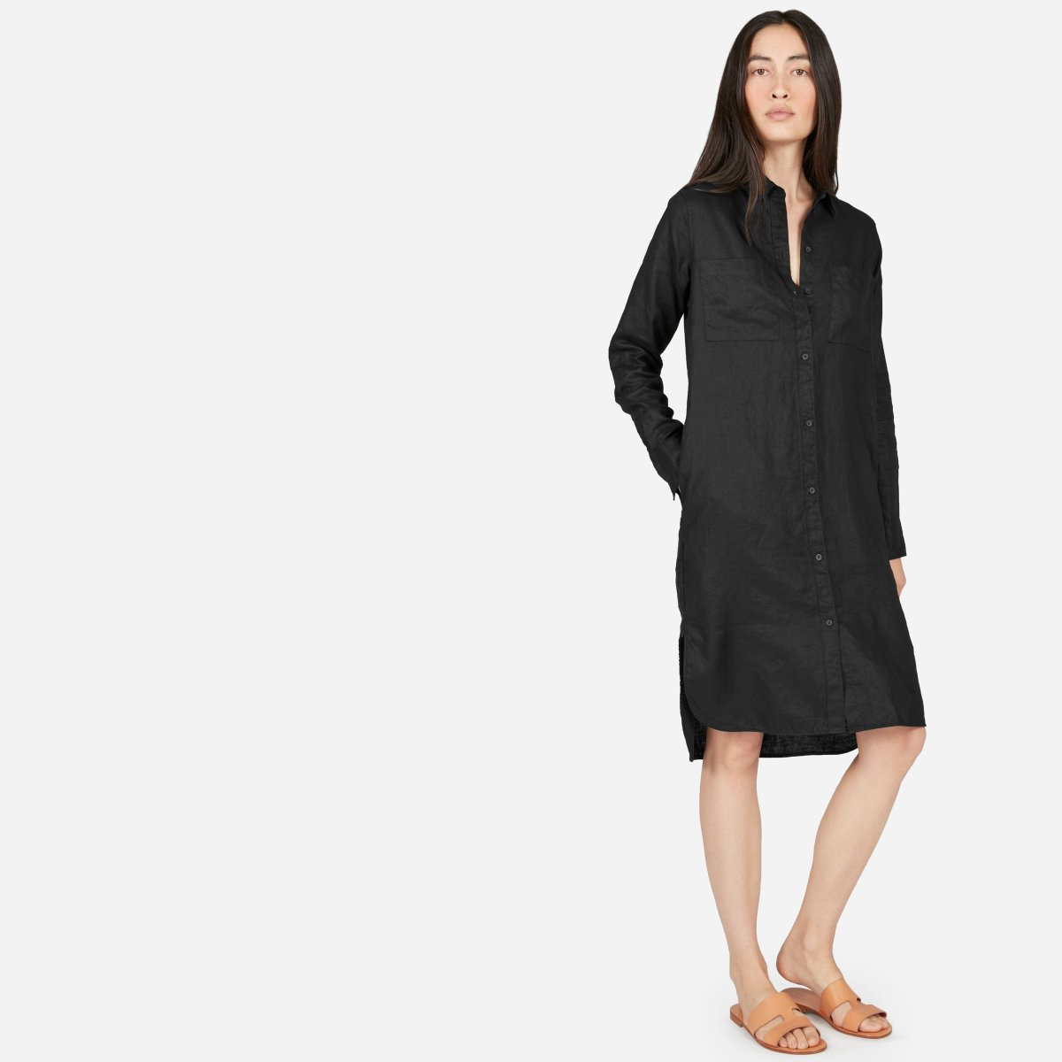 Womens Linen Shirt Dress Everlane