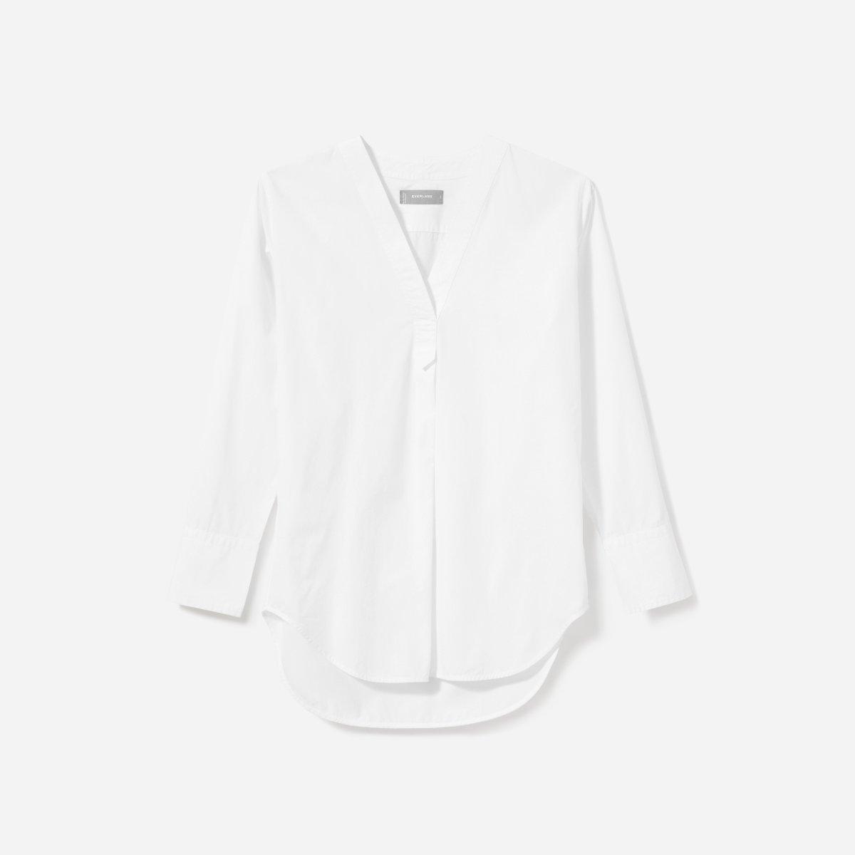 f7db651098c Women's Poplin V-Neck Tunic Shirt | Everlane