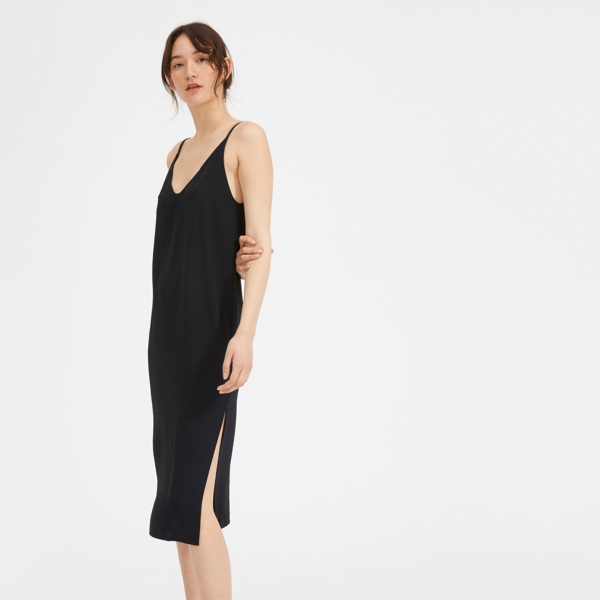 0dc11d64b65c1 Women's Japanese GoWeave Long Slip Dress   Everlane