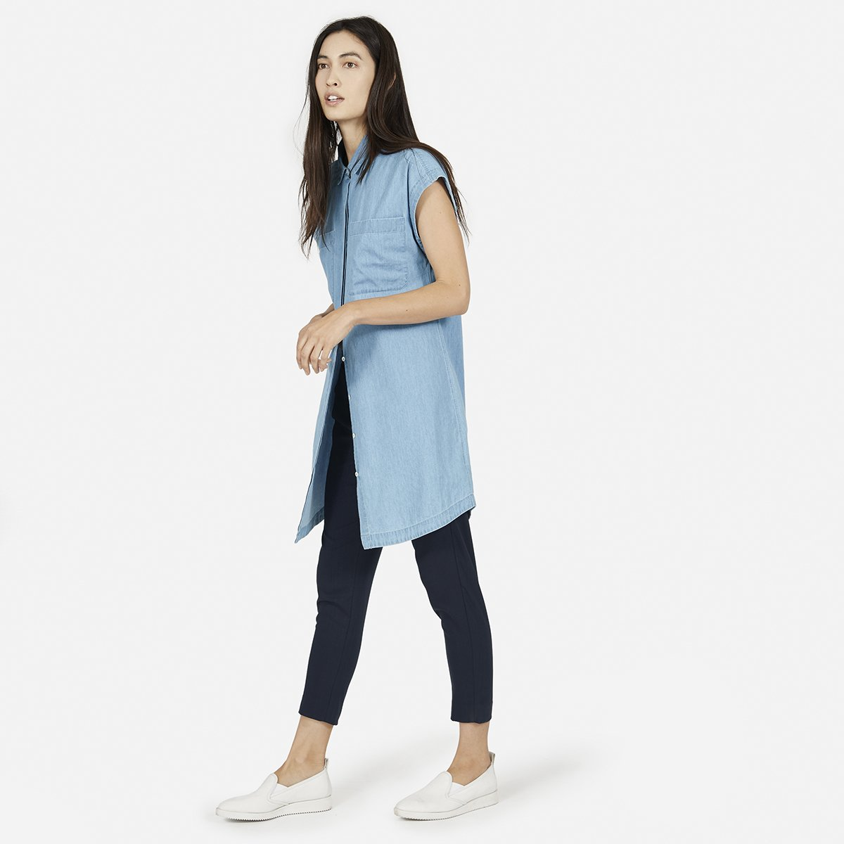 Womens Short Sleeve Shirt Dress Everlane