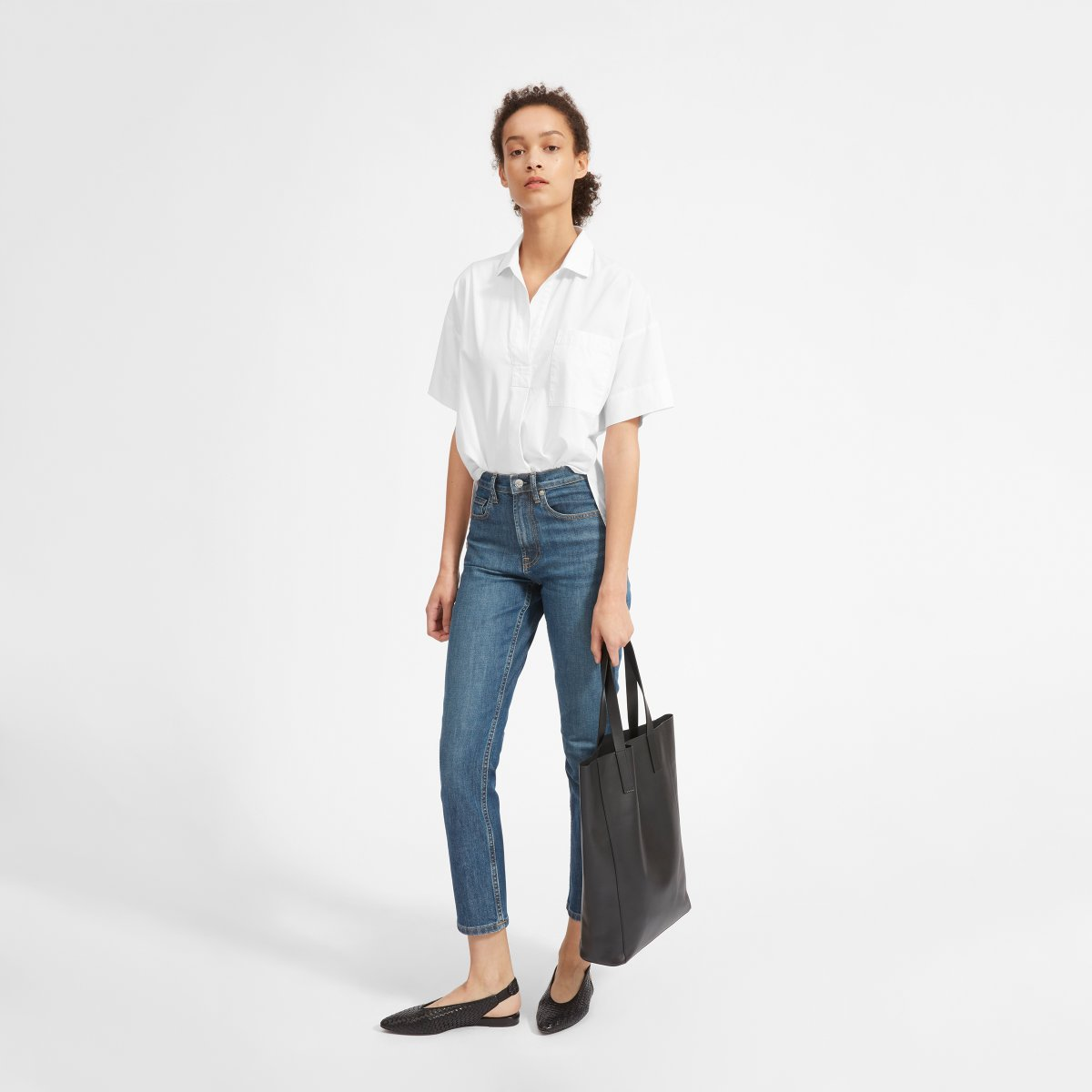 The Cotton Short Sleeve Popover Shirt by Everlane