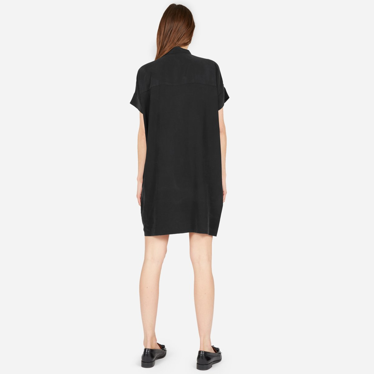 Womens Silk Square Shirt Dress Everlane