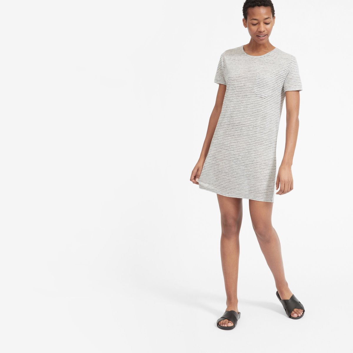 The Linen Box-Cut Tee Dress