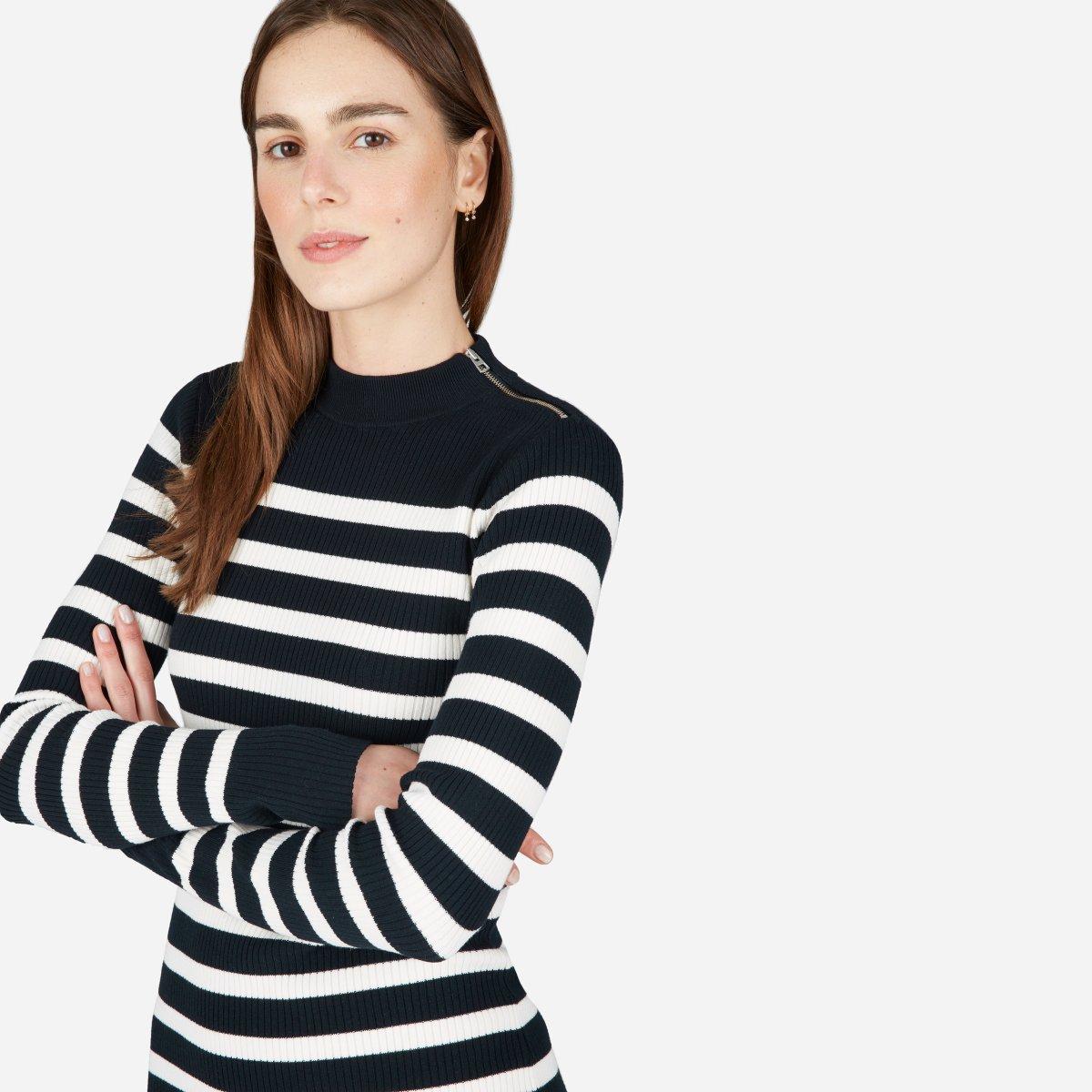 dcb0a93b61b4 Women's Breton Ribbed Cotton Sweater Dress | Everlane