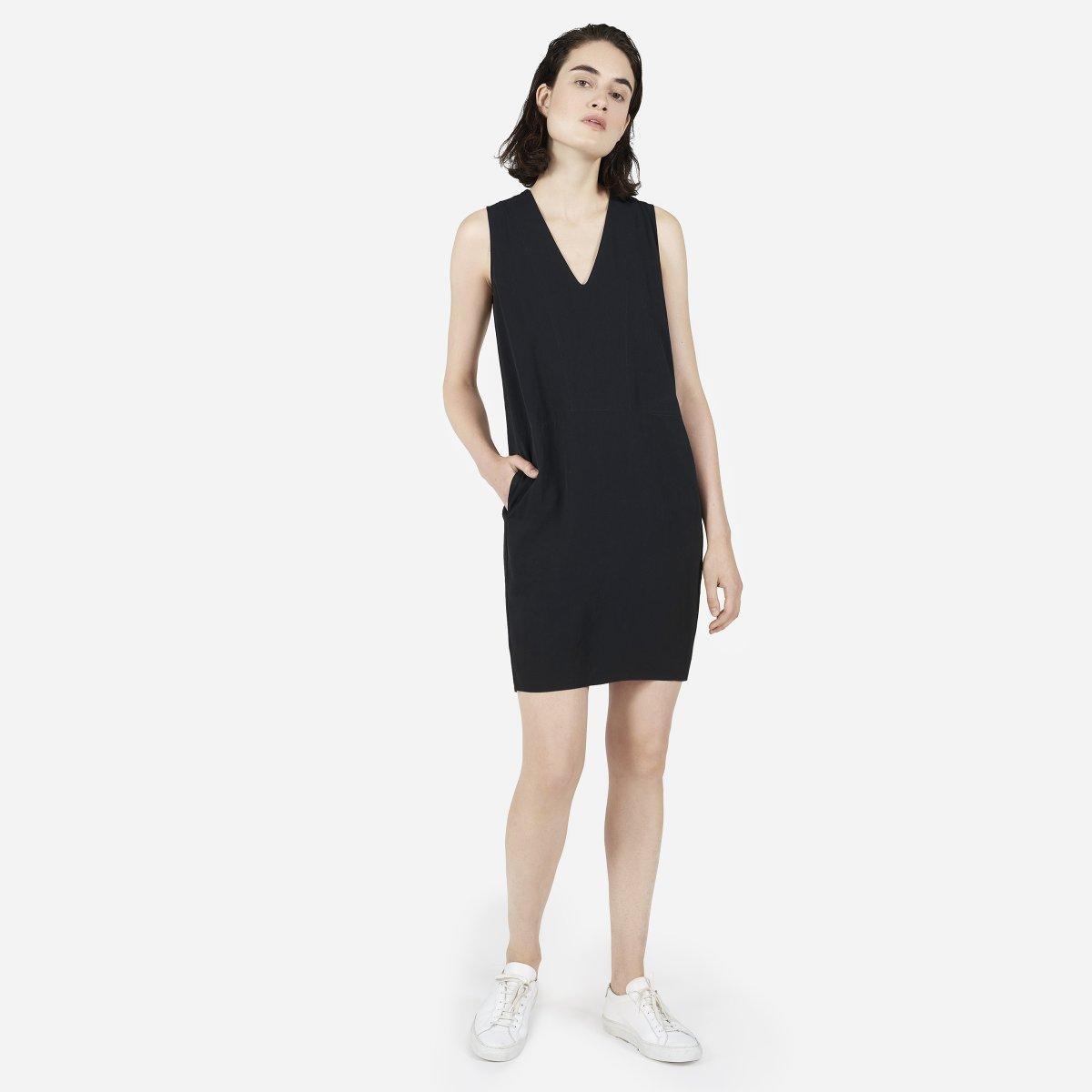 Womens Japanese Goweave Sleeveless V Neck Dress Everlane