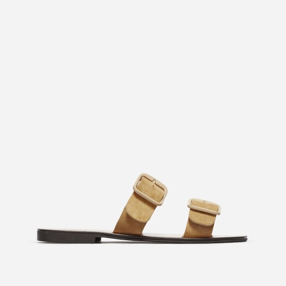 fdc9ade6cd2 The Modern Buckle Sandal in Sand Suede