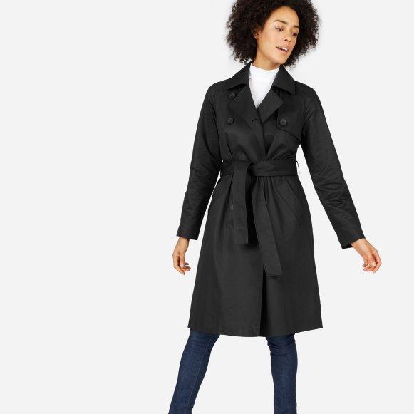 trench maternity black solid drapes p coat draped