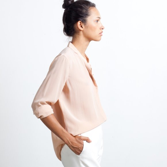 e3231323db5145 Women's Silk Band Collar | Everlane