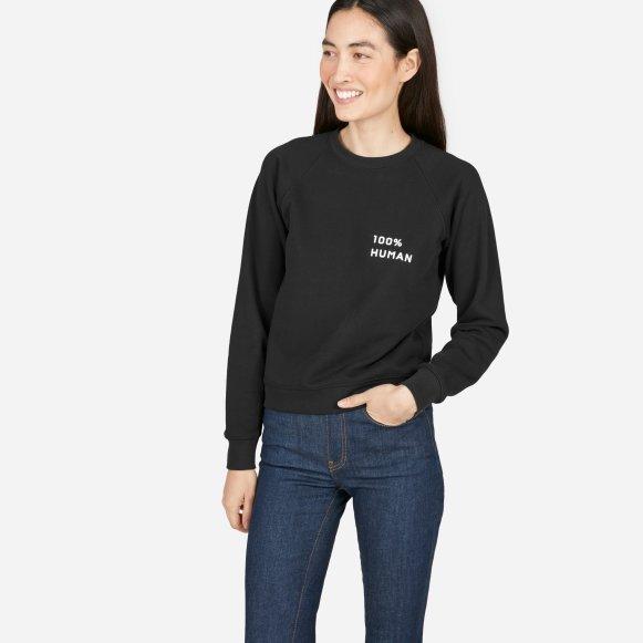 b8e381b53 Women s 100% Human French Terry Sweatshirt in Small Print