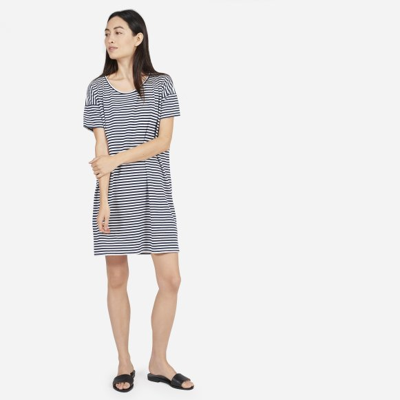 Womens Cotton Striped Tee Dress Everlane
