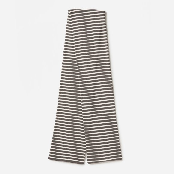 879b6b100 The Merino Wool Scarf in Charcoal / Bone