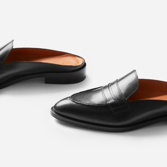 8f0392e8045 The Modern Penny Loafer Mule in Black