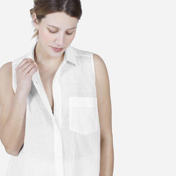 242707350ab The Cotton-Linen Sleeveless