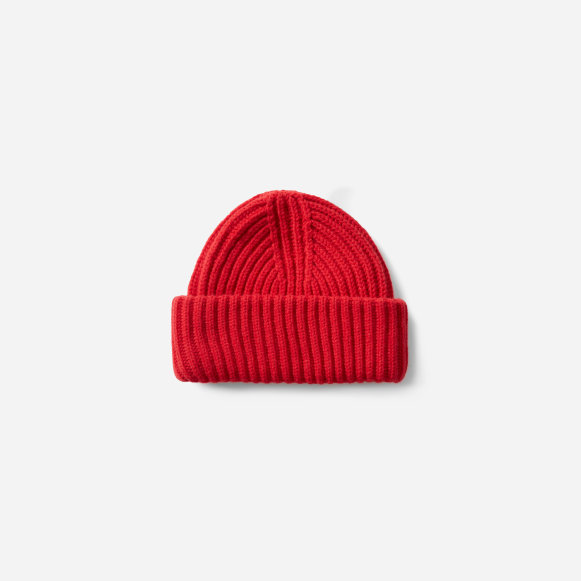 The Soft Wool Rib Beanie in Red 79724939e35