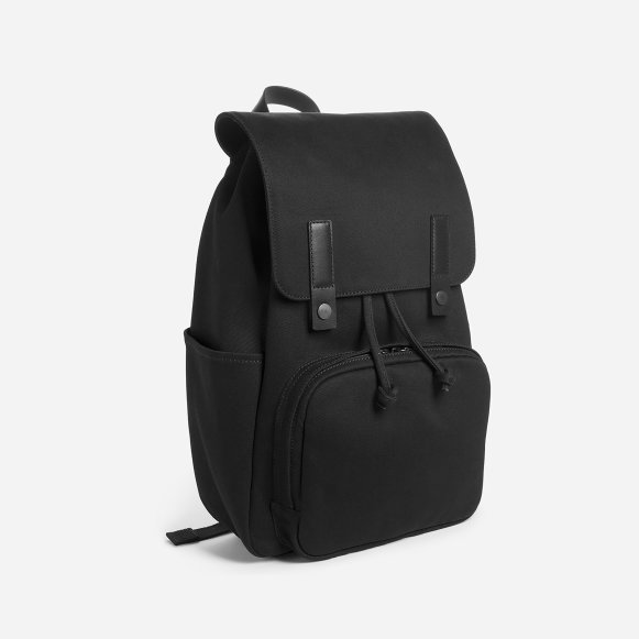 7fc3fb18d1a2 The Modern Snap Backpack in Black + Black Leather