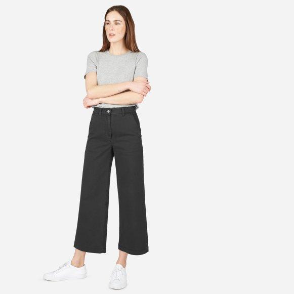 Womens Wide Leg Crop Pant Everlane