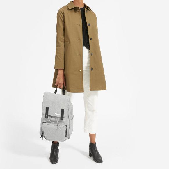 b6efc3feb1 The Modern Snap Backpack in Reverse Denim + Black Leather