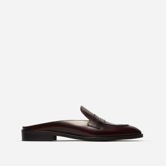 dc53d20cbca The Modern Penny Loafer Mule in Burgundy