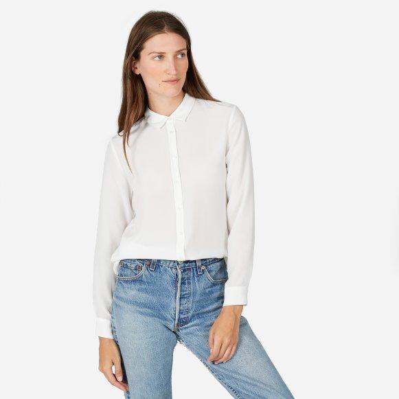 Women S Slim Silk Shirt Everlane