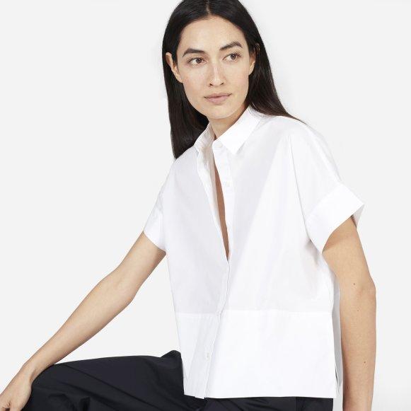 241a611197 The Cotton Poplin Short-Sleeve Square Shirt