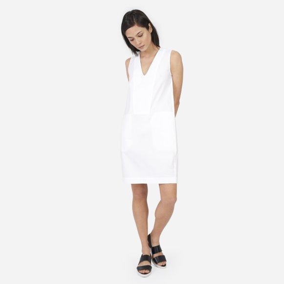 195abd7043 The Cotton Poplin V-Neck Tank Dress –  75