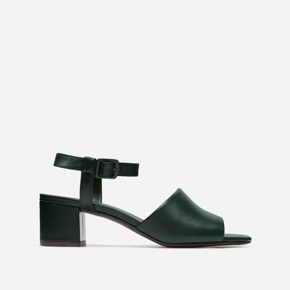 c882713e4453 The Block Heel Sandal in Dark Green