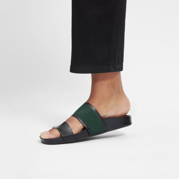 dfcd1767f6cc The Form Two-Strap Sandal in Black   Green
