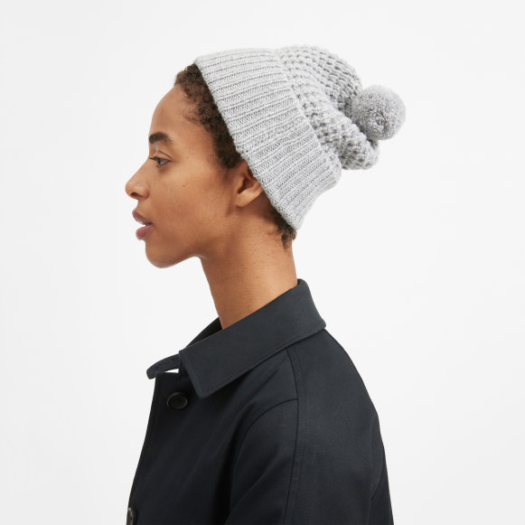 The Soft Wool Waffle Beanie in Heather Grey d3e3eb31169