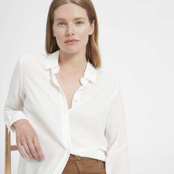 Women S Relaxed Silk Shirt Everlane