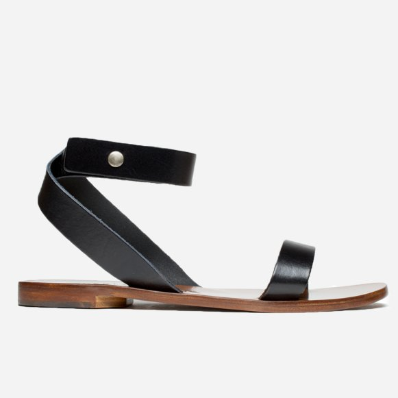 a04d943a5e4 The Italian Ankle-Wrap Sandal in Black